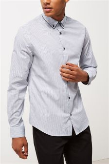 Long Sleeve Double Collar Shirt