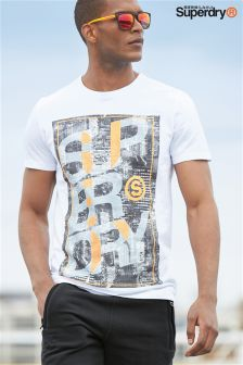 Superdry White Overlap City Tee