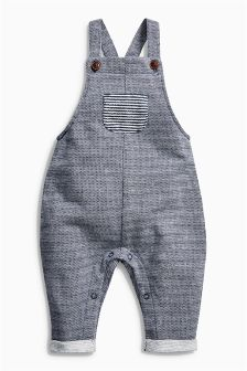 Blue Jersey Dungarees (0mths-2yrs)