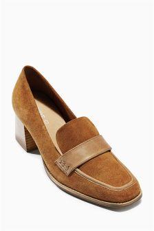 Premium Leather Square Toe Loafers