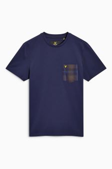 Lyle & Scott Check Pocket T-Shirt