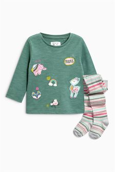 T-Shirt And Tights Set (3mths-6yrs)