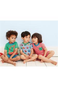 Bubble Car Short Pyjamas Three Pack (9mths-8yrs)