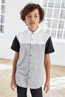Grey/White Colourblock Shirt (3-16yrs)