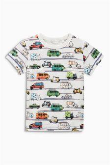 Multi Car Print T-Shirt (3mths-6yrs)