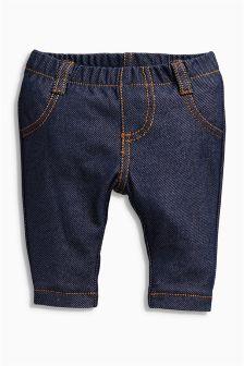 Denim Blue Jersey Leggings (0-18mths)