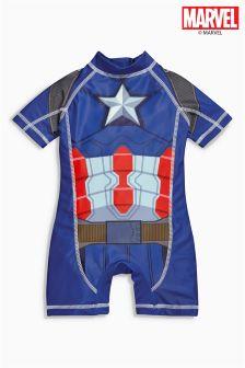 Blue Captain America Surf Suit (3mths-6yrs)