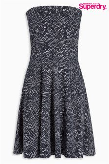 Superdry Polka Dot Bandeau Dress