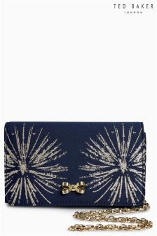Ted Baker Navy Starla Clutch Bag