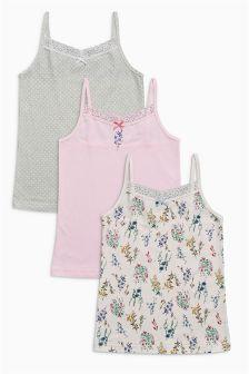 Pink/Blue Keepsake Camis Three Pack (3-16yrs)