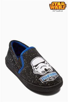 Grey Star Wars™ Slippers (Older Boys)