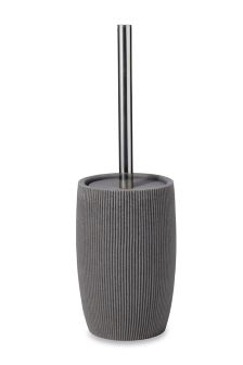 Textured Grey Resin Toilet Brush