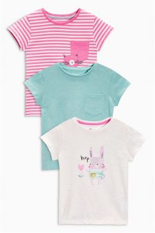 Multi Bright Rabbit Character T-Shirts Three Pack (3mths-6yrs)