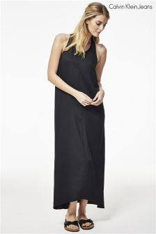Calvin Klein Black Logo Maxi Dress