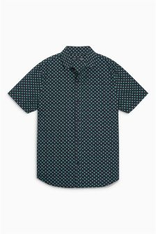 Short Sleeve Frog Print Shirt (3-16yrs)