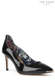 Ted Baker Black Patent Leather Vyixin Pointed Court Shoe