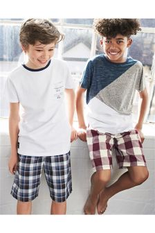 Check Pyjamas Two Pack (3-16yrs)