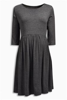 Grey Skater Dress (Maternity)
