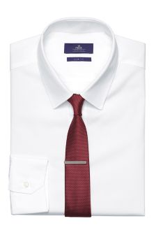 Shirt, Tie And Tie Clip Set