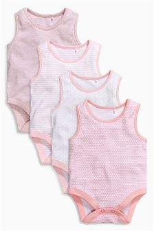 Pink Vests Four Pack (0mths-3yrs)