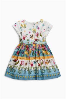 Ecru Floral Border Prom Dress (3mths-6yrs)