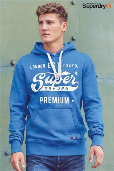 Superdry Blue Japan Logo Overhead Hoody