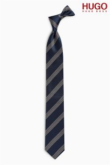 Hugo By Hugo Boss Navy Stripe Tie