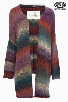 Animal Sophie Rose Bordeaux Red Knitted Cardigan