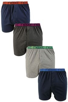 Mix Base Contrast Waistband Loose Fit Four Pack