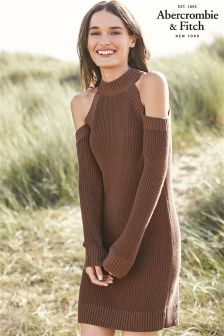 Abercrombie & Fitch Camel Knit Dress