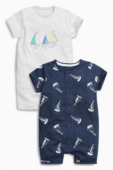 Boat Romper Two Pack (0mths-2yrs)