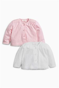 Jersey Cardigan Two Pack (0mths-2yrs)