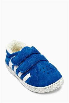 Blue Trainer Slippers (Younger Boys)