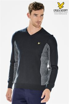 Lyle & Scott Golf Navy Future Check Jumper