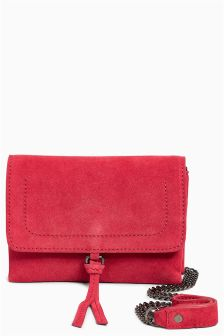 Suede Mini Across-Body Bag