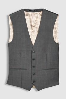 Charcoal Suit: Waistcoat