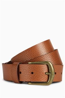Tan Leather Casual Belt