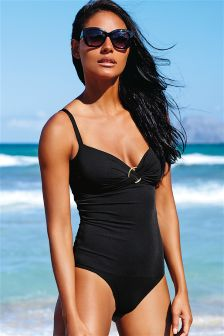 Shape Enhancing Ring Trim Swimsuit