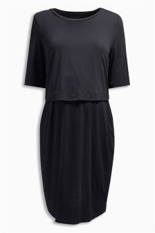 Black Nursing Dress (Maternity)