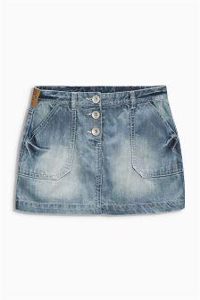 Button Detail Skirt (3-16yrs)