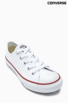 Converse All Star White Leather Chuck Lo