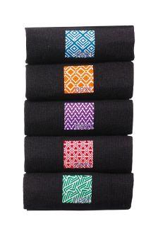 Black Heatseal Socks Five Pack