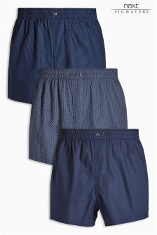 Signature Woven Boxers Three Pack