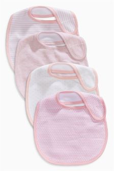 Pink Bibs Four Pack
