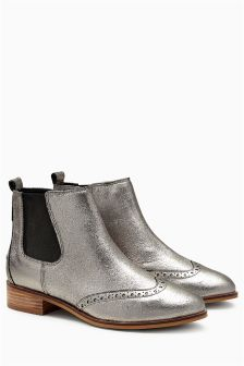 Brogue Detail Chelsea Boots