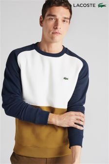 Lacoste® Navy/White/Yellow Colourblock Sweater