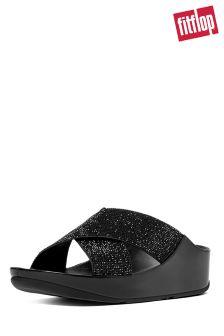 FitFlop™ Black Crystall™ Slide Sandal