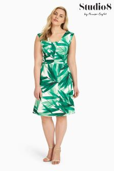 Studio 8 Green/Ivory Thea Dress