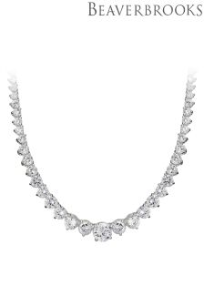 Beaverbrooks Silver Cubic Zirconia Necklace