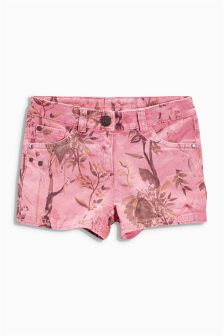 Pink Floral Shorts (3-16yrs)